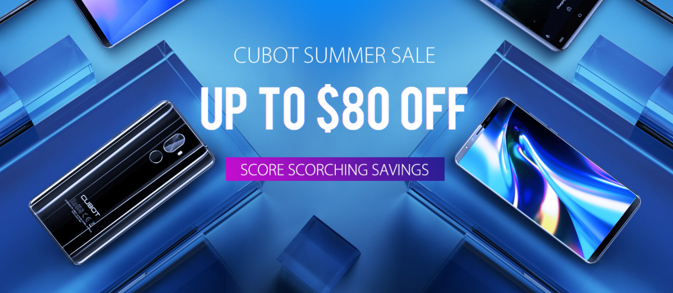 CUBOT's summer sale