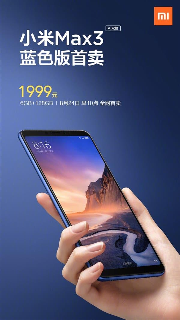 Xiaomi Mi Max 3 Blue