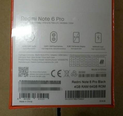 Xiaomi Redmi ntoe 6 Pro