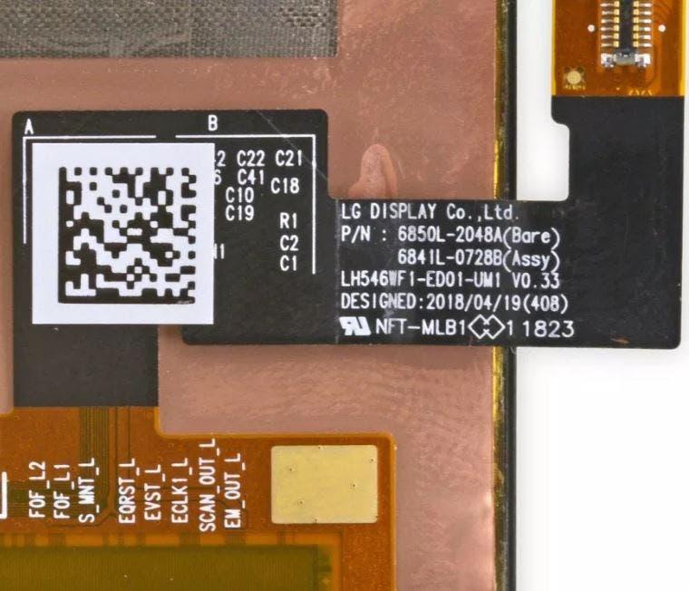 Google Pixel 3 LG Panel
