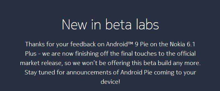 Nokia 6.1 Plus (Nokia X6) to get Android 9 Pie update soon