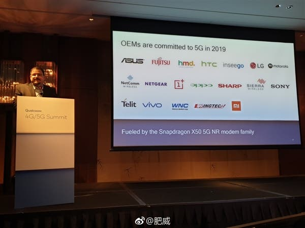 Qualcomm reaffirms Xiaomi, Oppo, HMD, and others to use Snapdragon X50 5G baseband in 2019