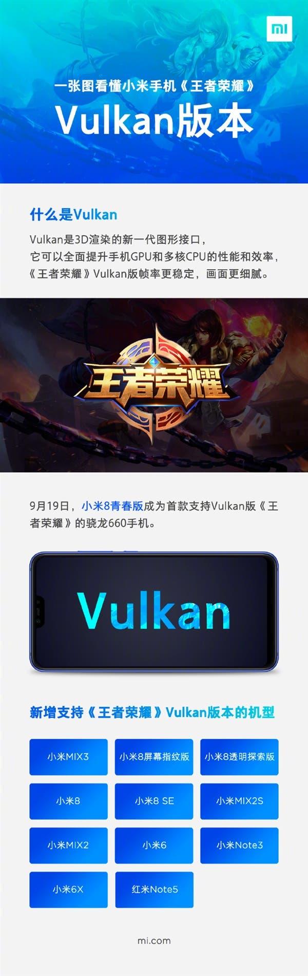 Honor of Kings Vulkan Xiaomi