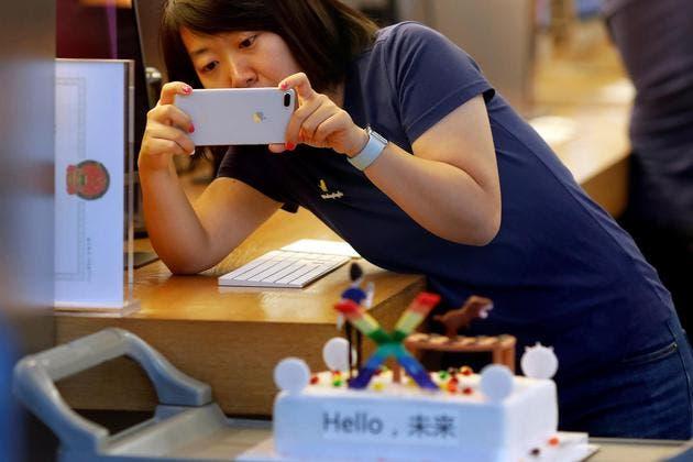 Apple sales decline