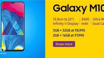 Samsung Galaxy M20 and M10