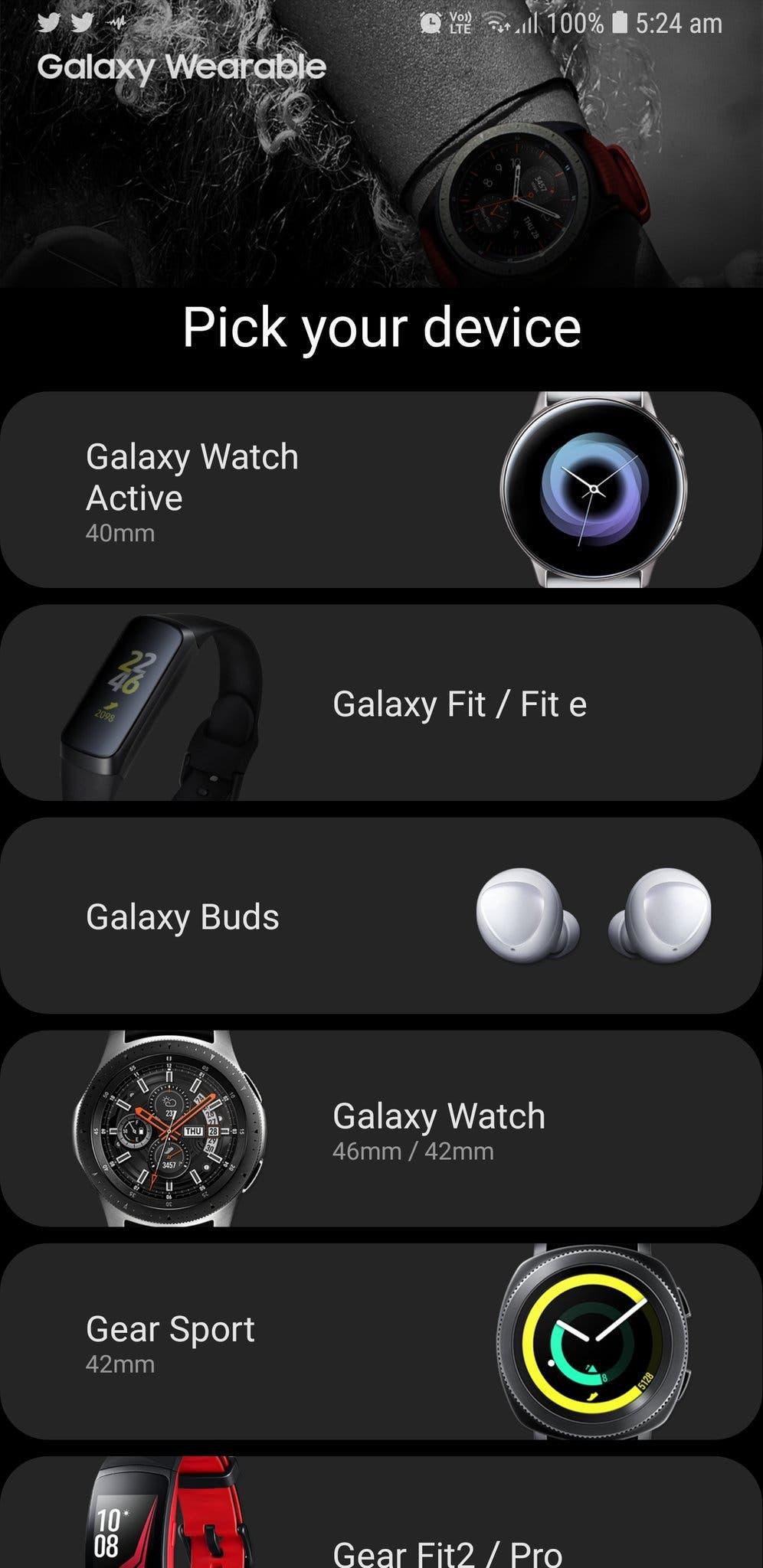 Galaxy wearables