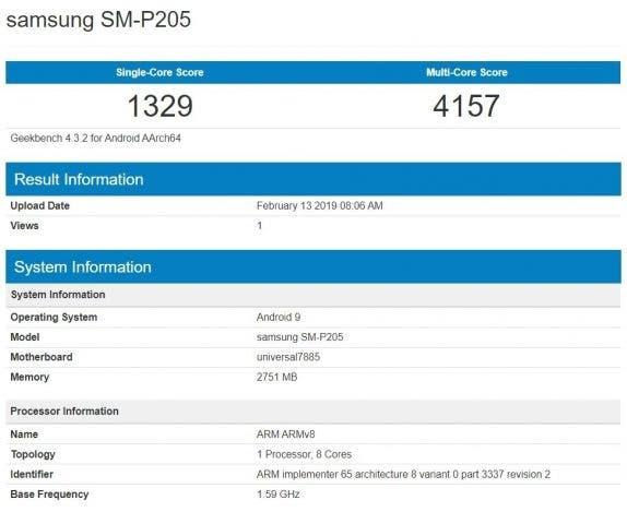 SM-P205 Geekbench