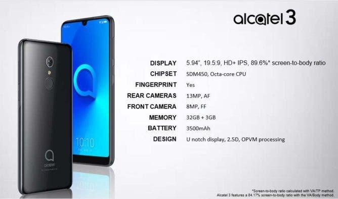 alcatel 3 (2019)