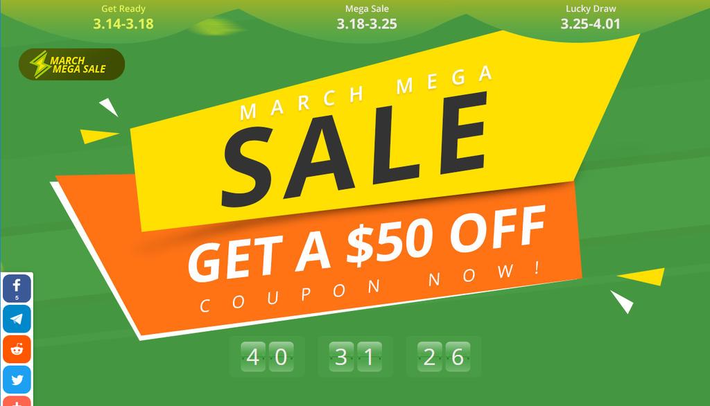 Mega March Sale