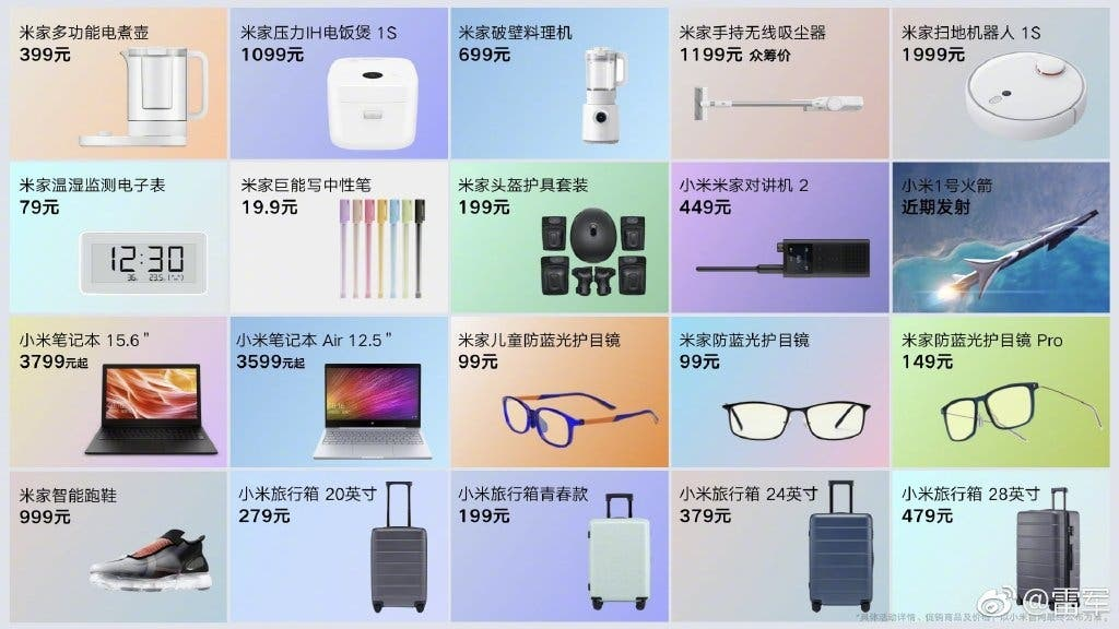 """Xiaomi 20 """"new"""" products"""