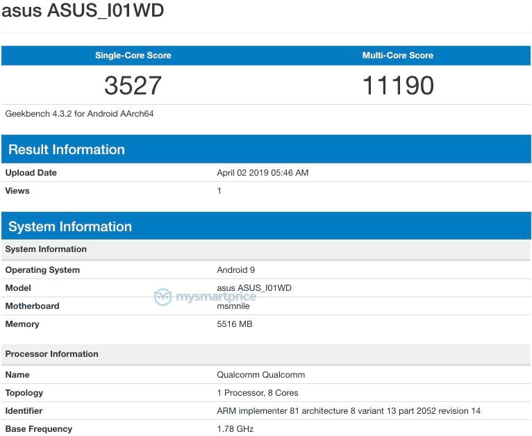 Asus ZenFone 6 Geekbench