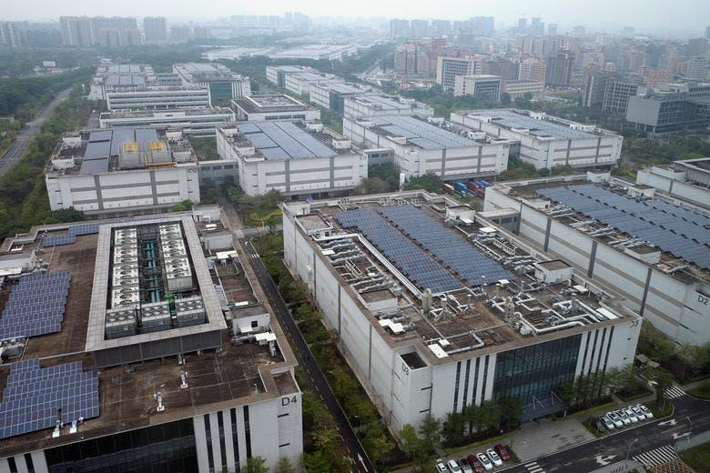 Huawei factory campus in Dongguan
