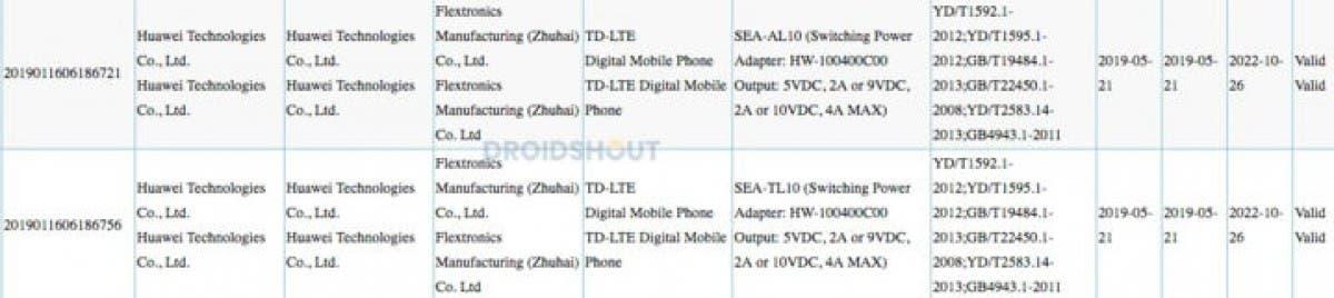 Huawei Nova 5 3c