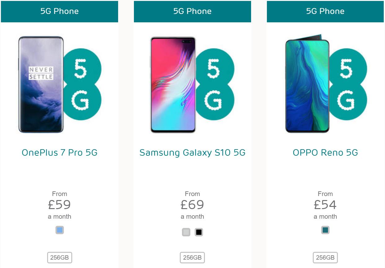5G smartphones from EE
