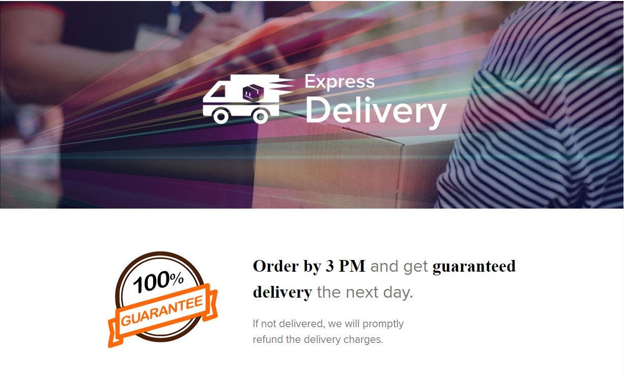 Xiaomi Guaranteed Next-Day delivery