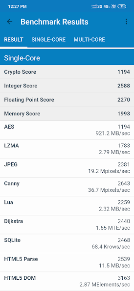 note 7 pro geekbench