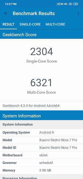 Redmi Note 7 Pro geekbench