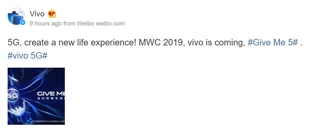 Vivo's first 5G smartphone