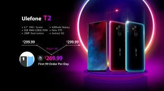 "Ulefone T2 with 6.7"" SHARP Notch Screen Will Presale at $269.99"