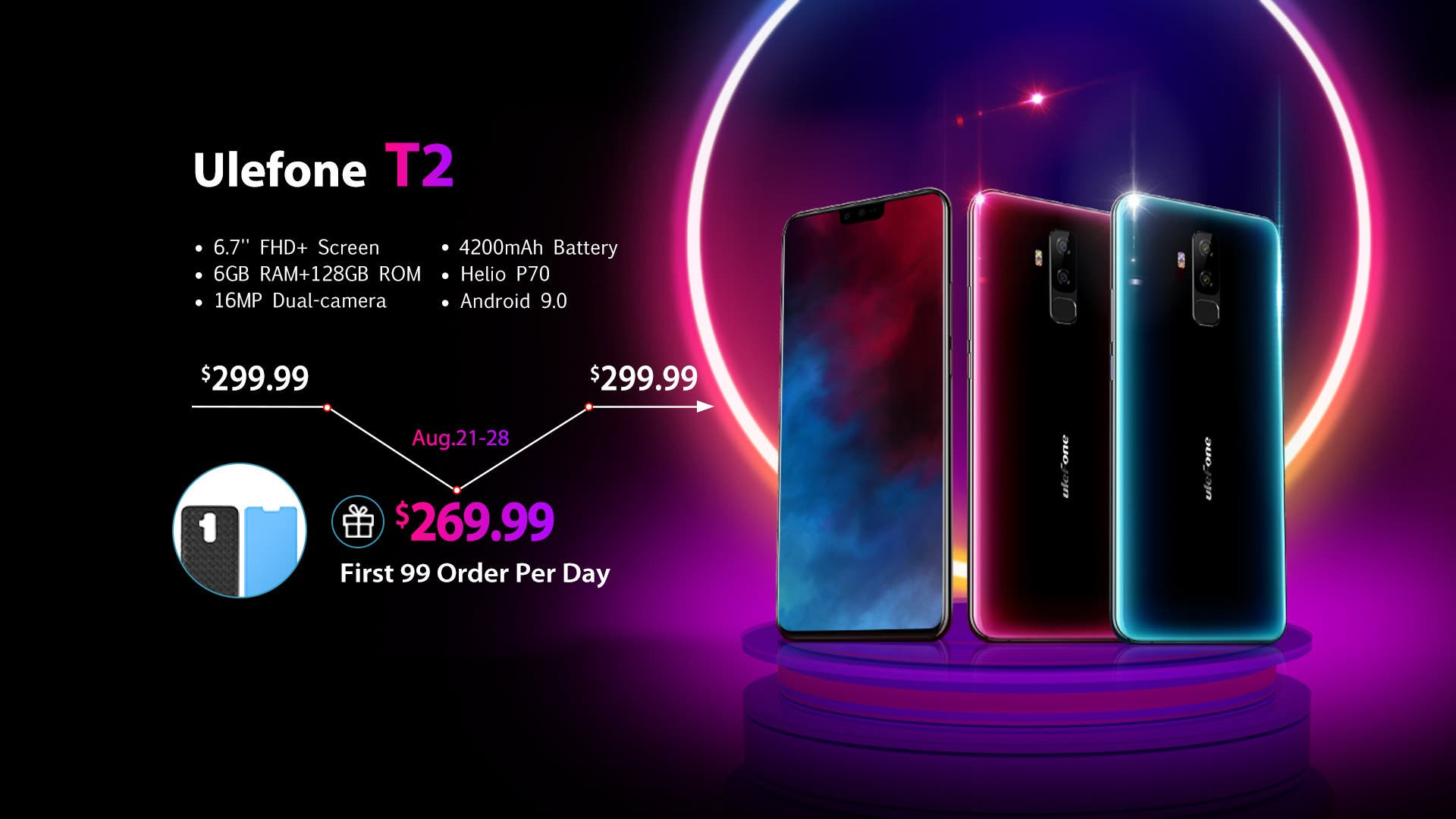 """Ulefone T2 with 6.7"""" SHARP Notch Screen Will Presale at $269.99"""