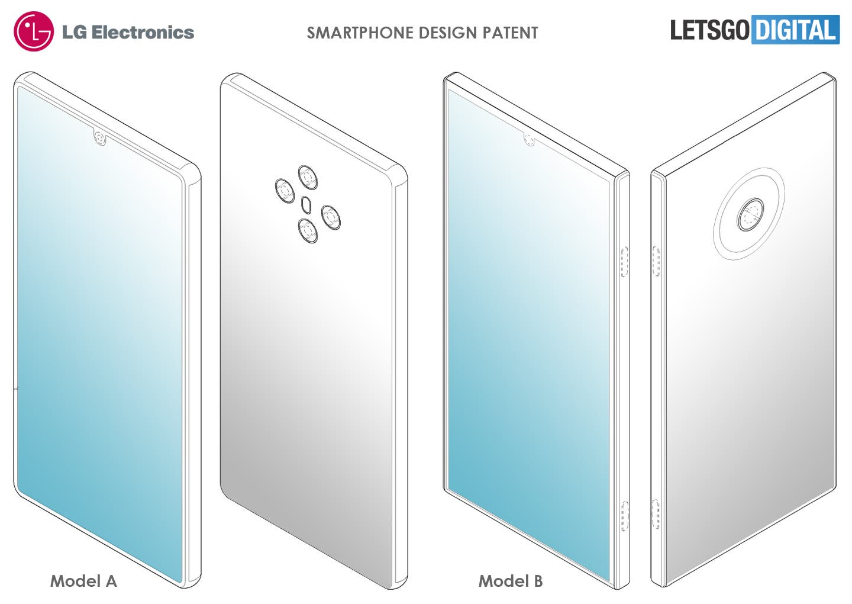 LG smartphone design patents