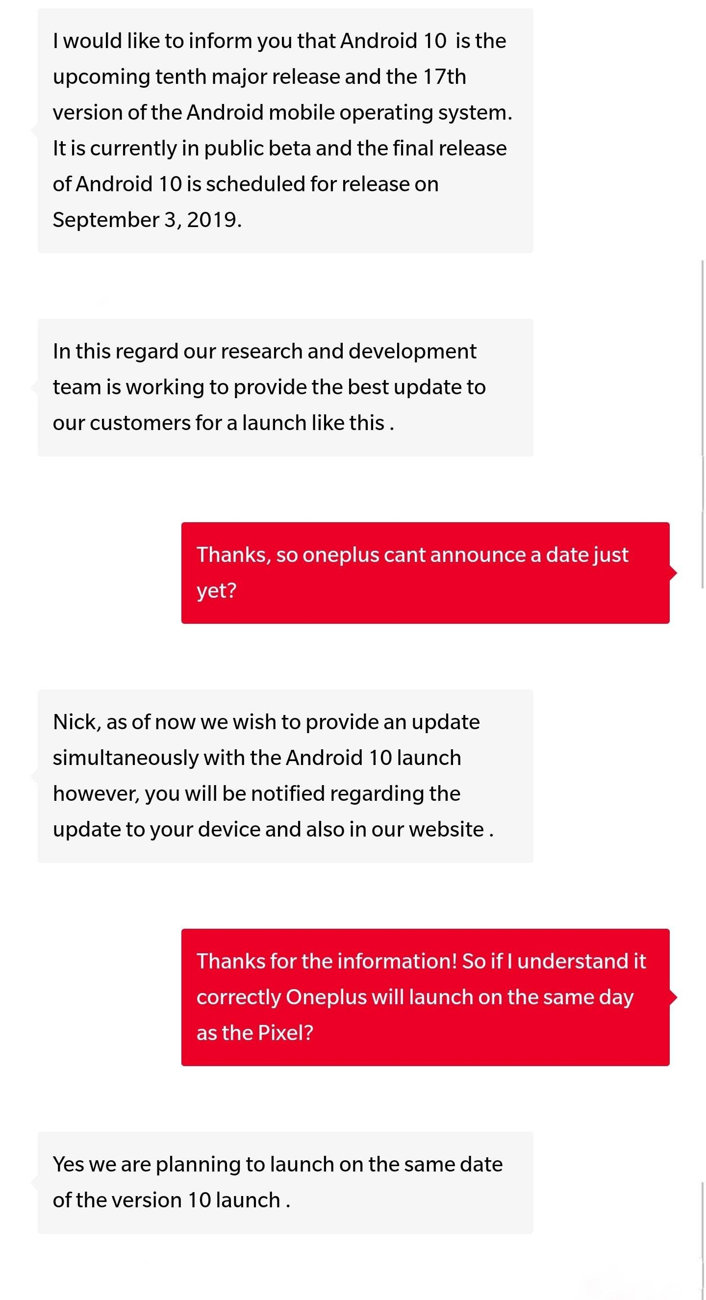 oneplus on android 10