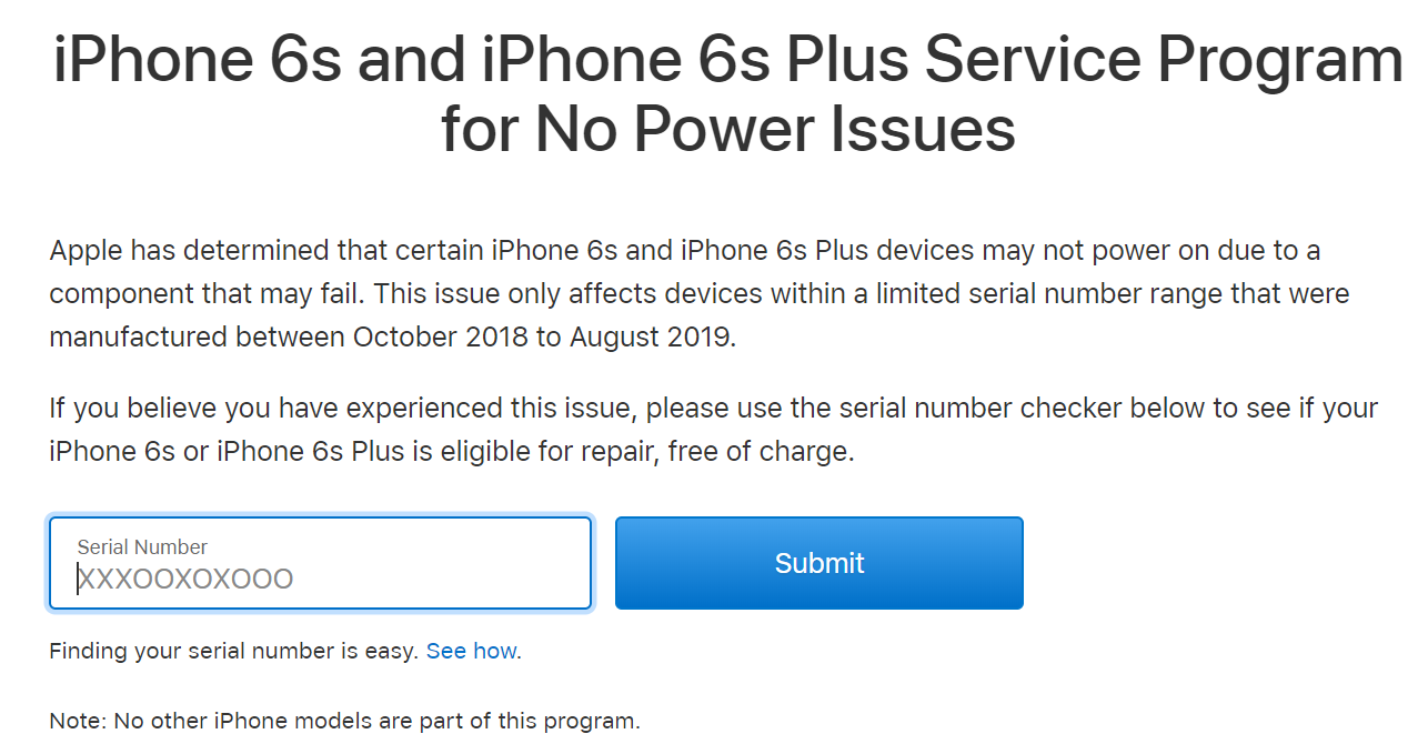 iPhone 6s & iPhone 6s Plus power issues