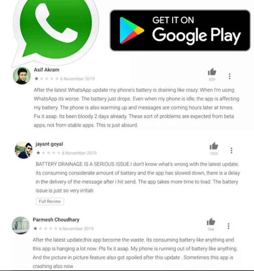 WhatsApp breaking basic function on recent OnePlus handsets