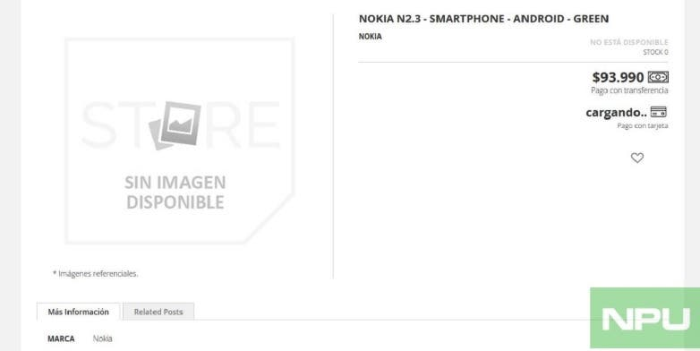 Nokia 2.3 Listed Online