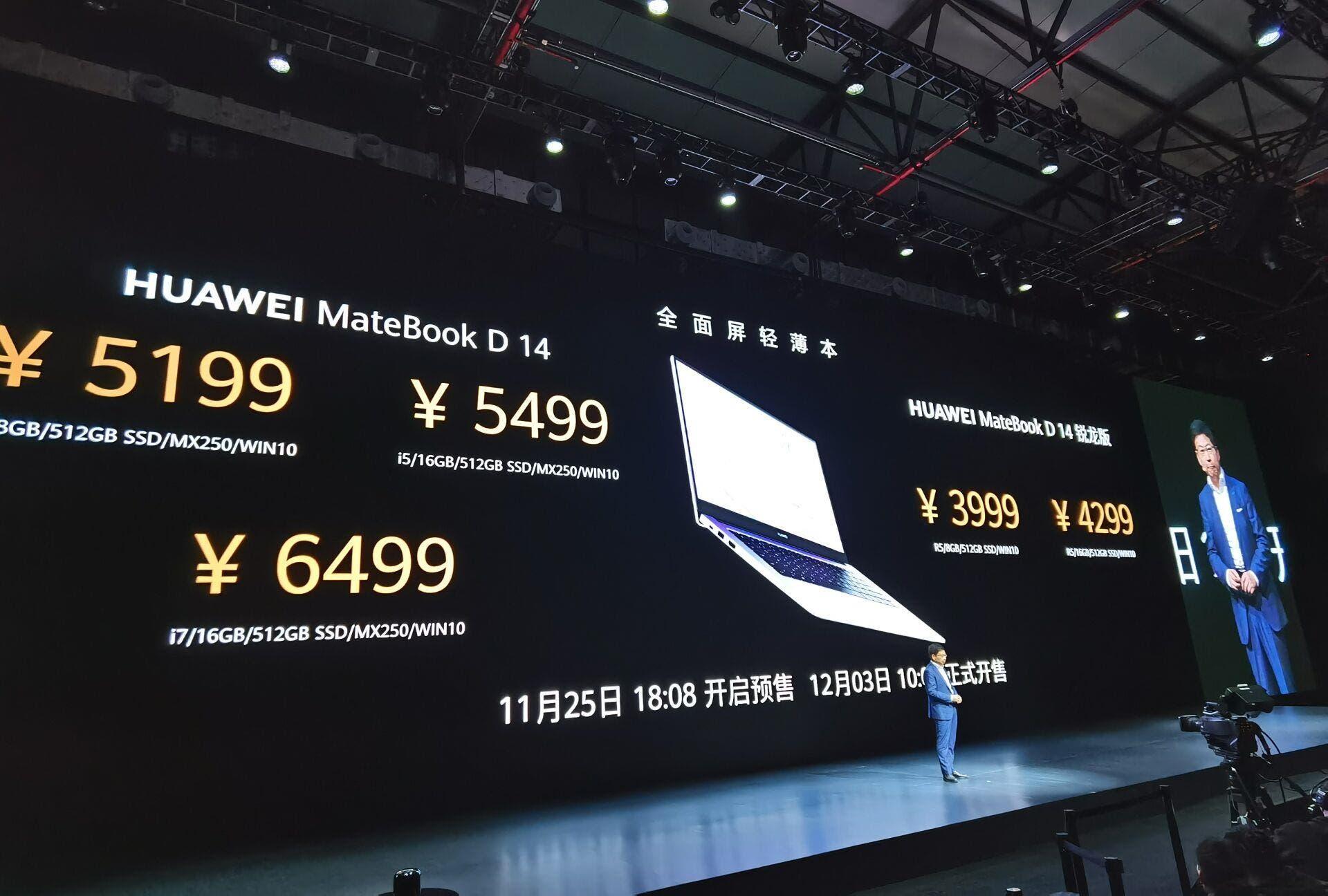 Huawei MateBook D 14 Huawei MateBook D 15