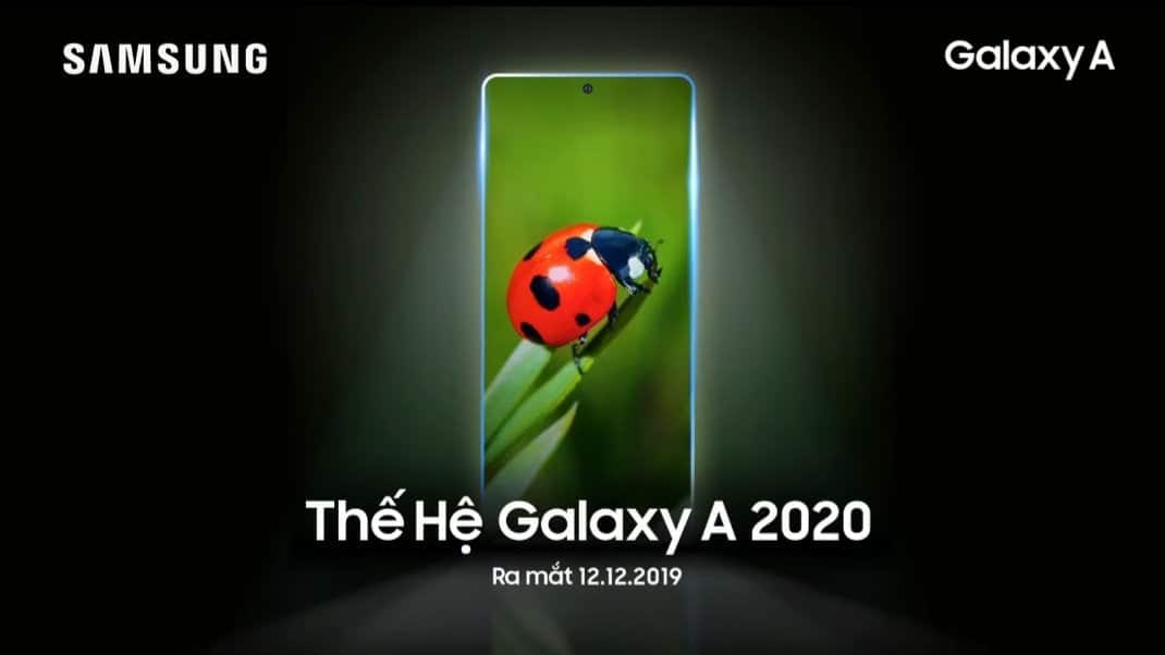 Samsung Galaxy A (2020) series will be unveiled on December 12