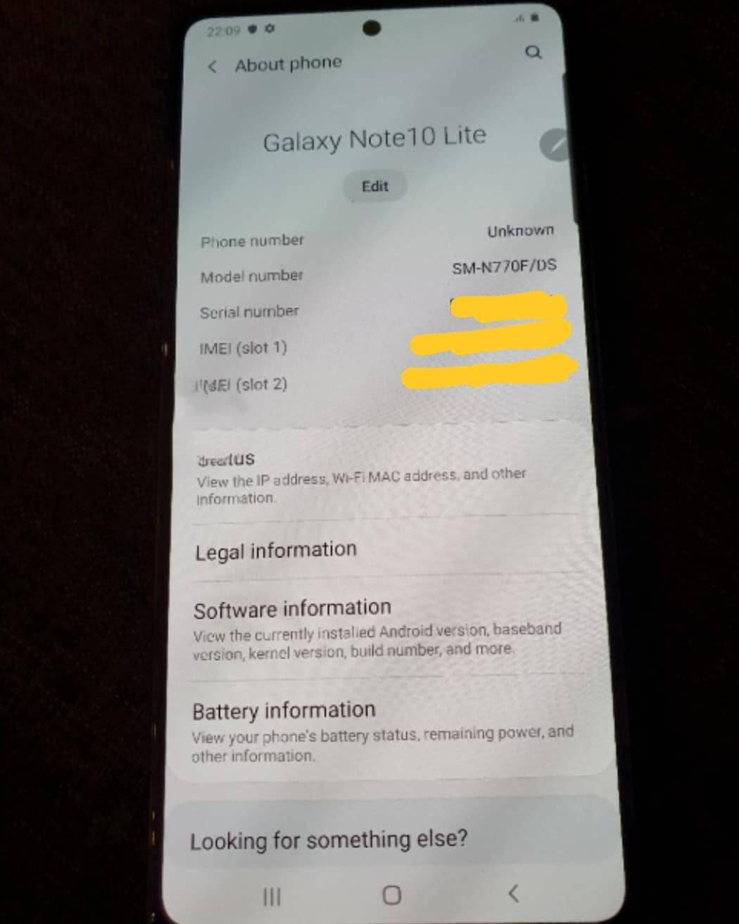 Images Of Samsung Galaxy Note 10 Lite Leaked