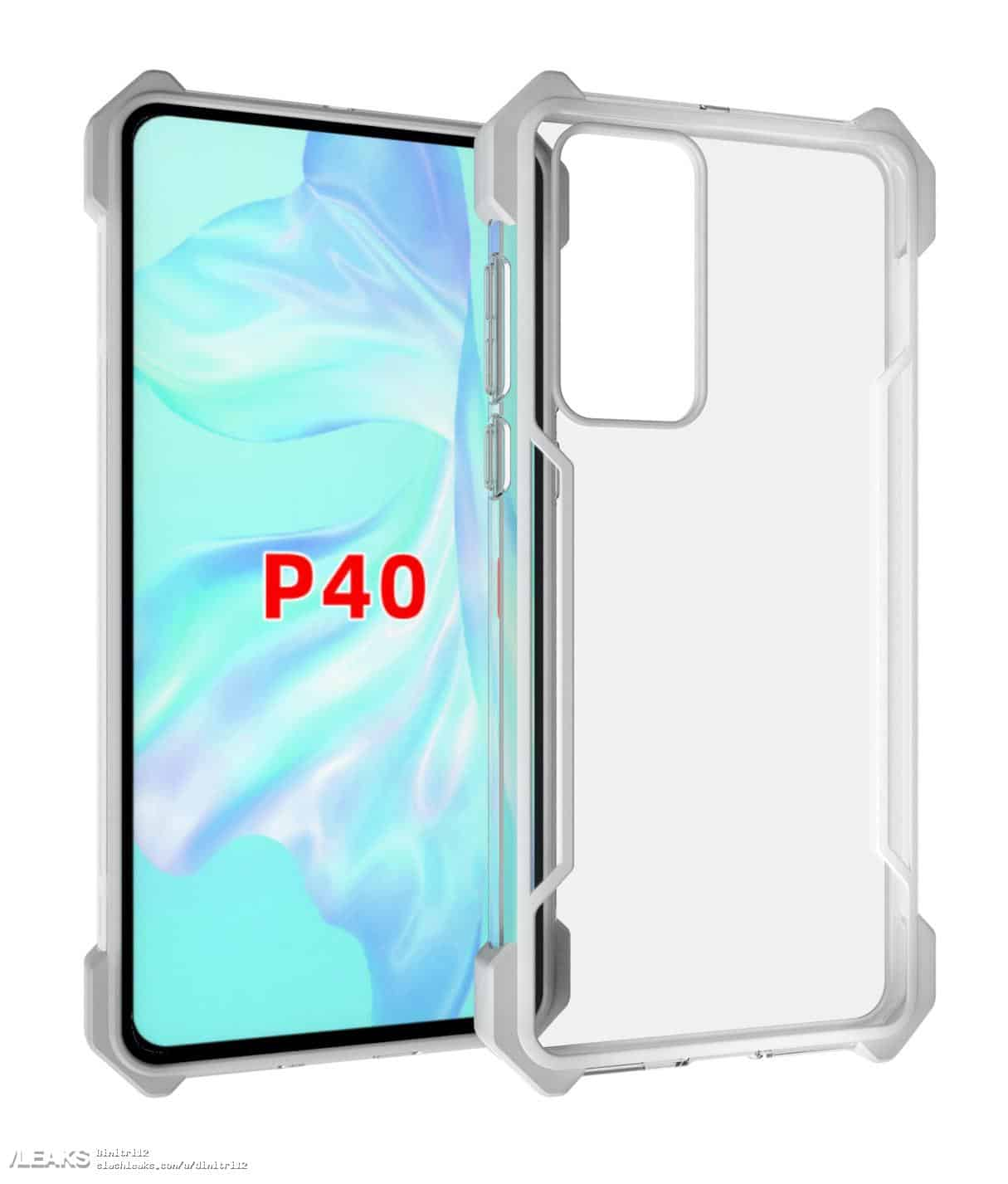 Huawei P40 Series Case Renders Leaked Online