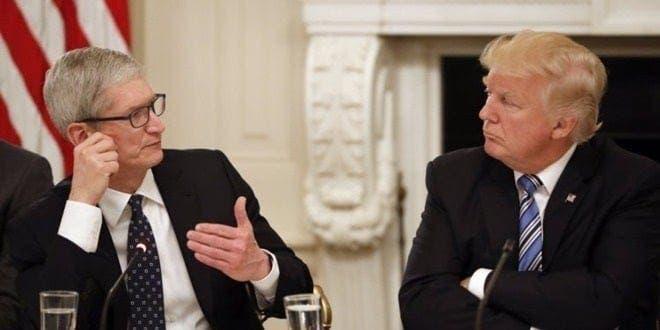 Tim Cook and Donald Trump