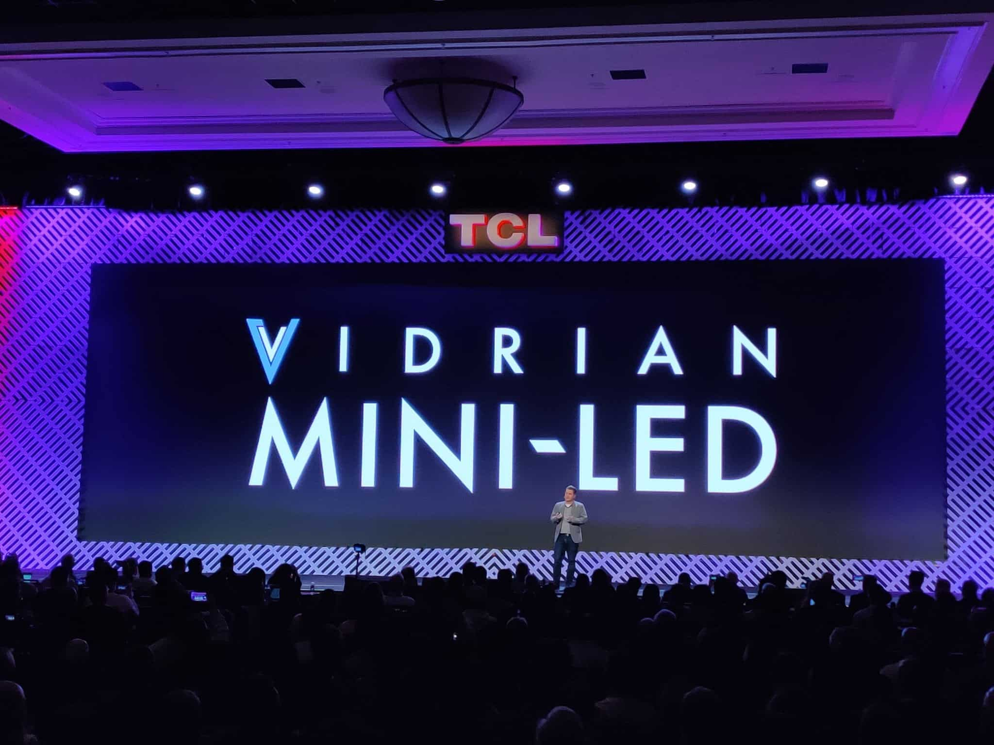 TCL Unveils Vidrian Mini-LED Technology at CES 2020