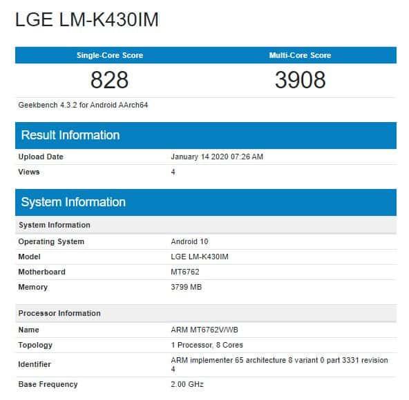 LG K43