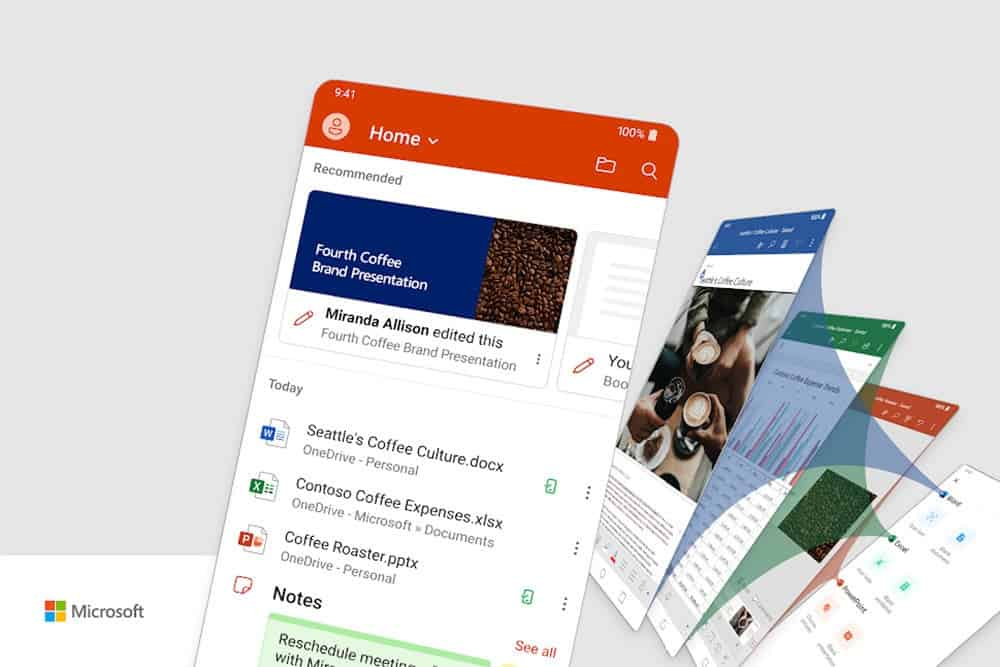 The new Microsoft Office for Android is here: Word, Excel and PowerPoint in a single app - Gizchina.com