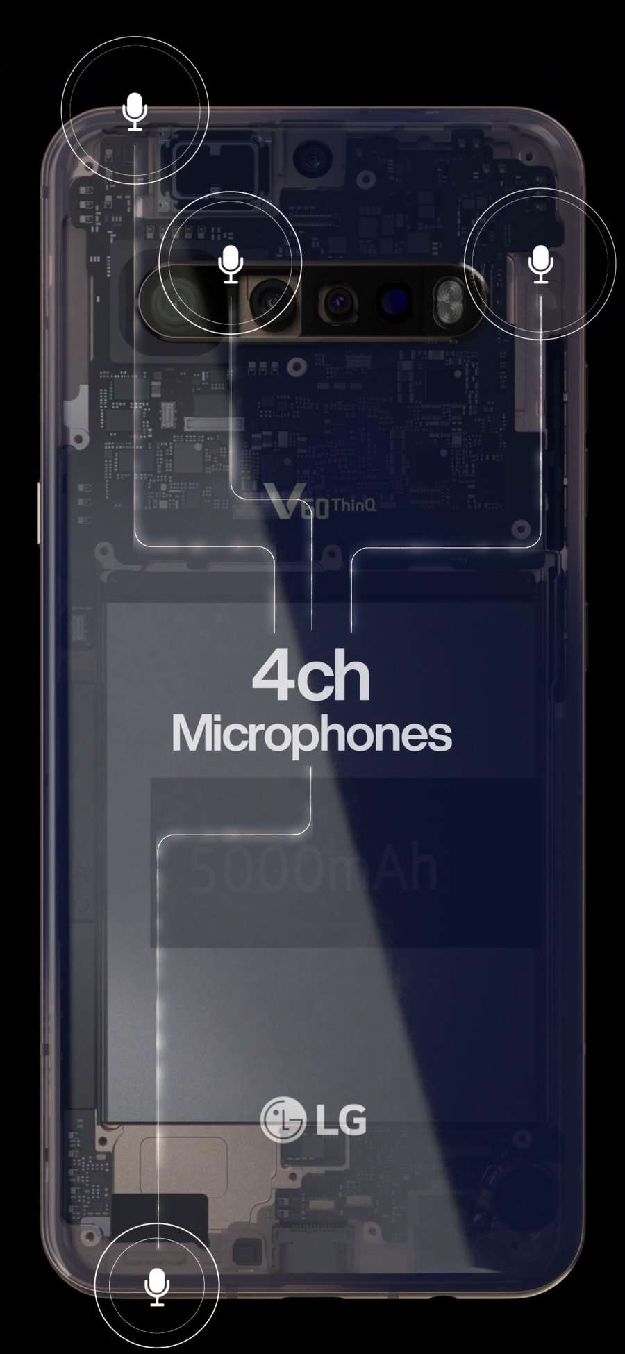 LG V60 ThinQ Teaser Leaked 4 Cameras 5000mAh Battery and Headphone Jack