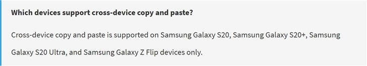 Samsung Galaxy S20 / Z Flip will support copy and paste with Windows 10