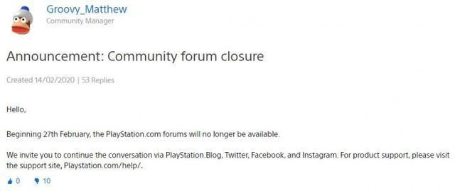 PlayStation official forum