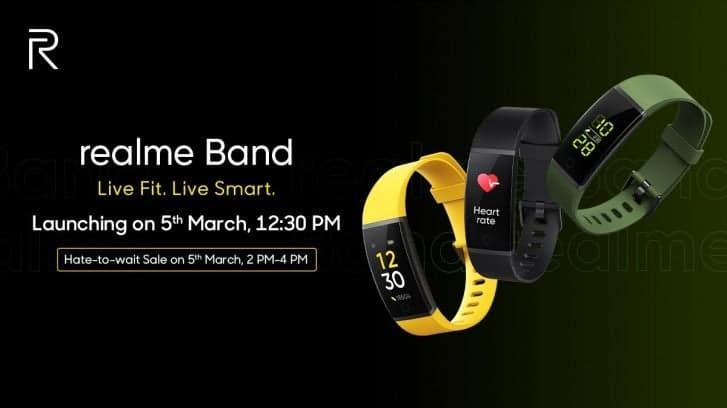 Realme Band to come with IP68 rating, heart-rate monitor and USB-A connector - Gizchina.com