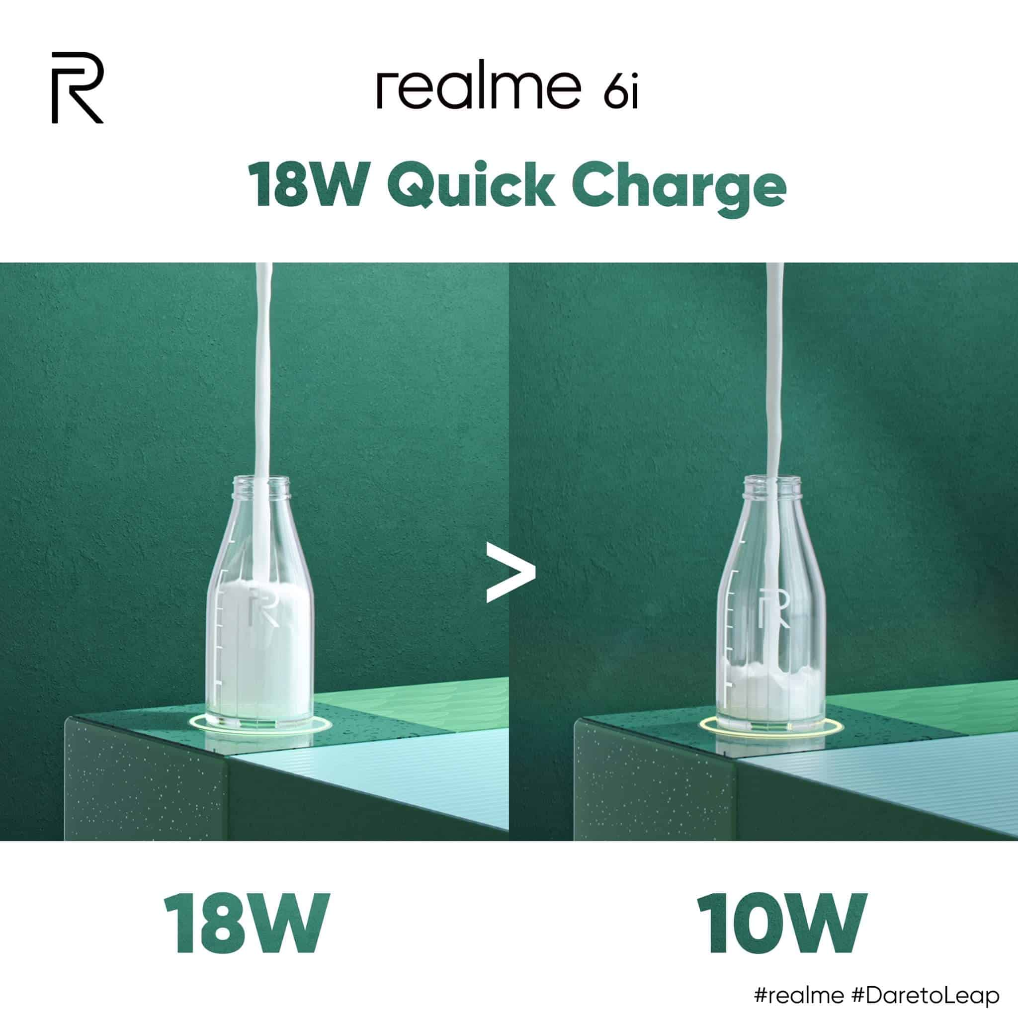 realme 6i quick charge