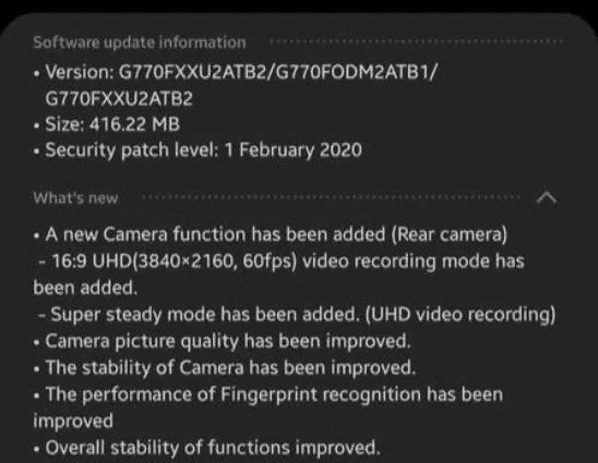 s10 lite 4k video recording