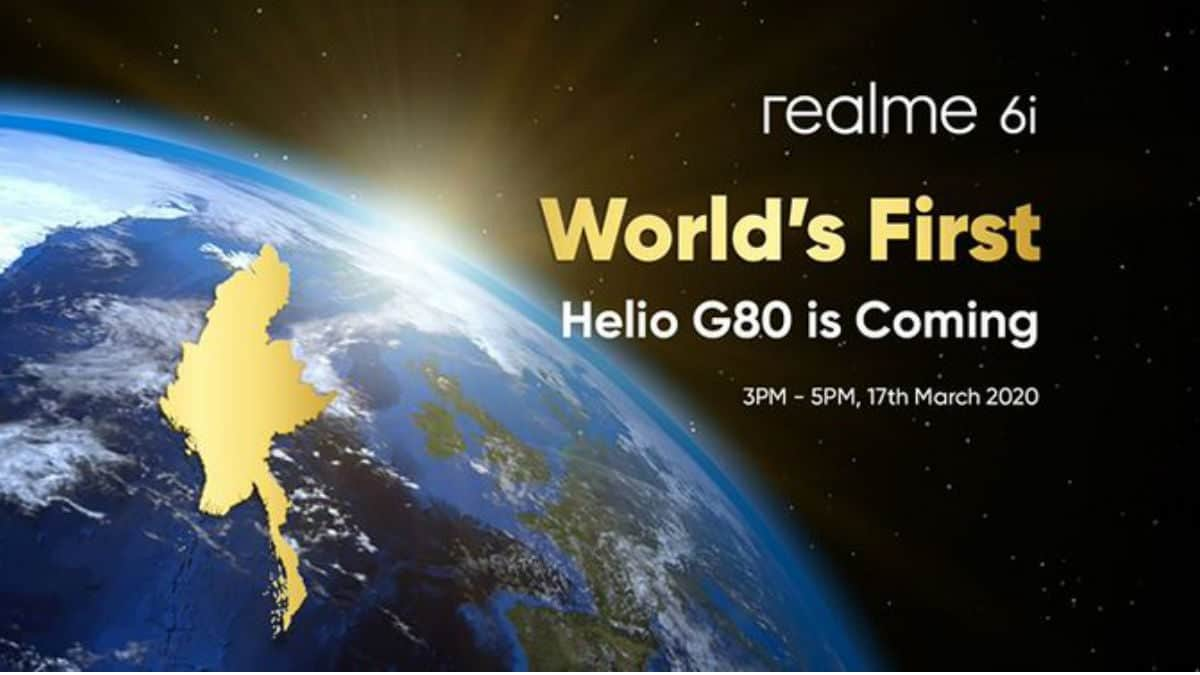 Realme 6i with MediaTek Helio G80 SoC to launch on March 17