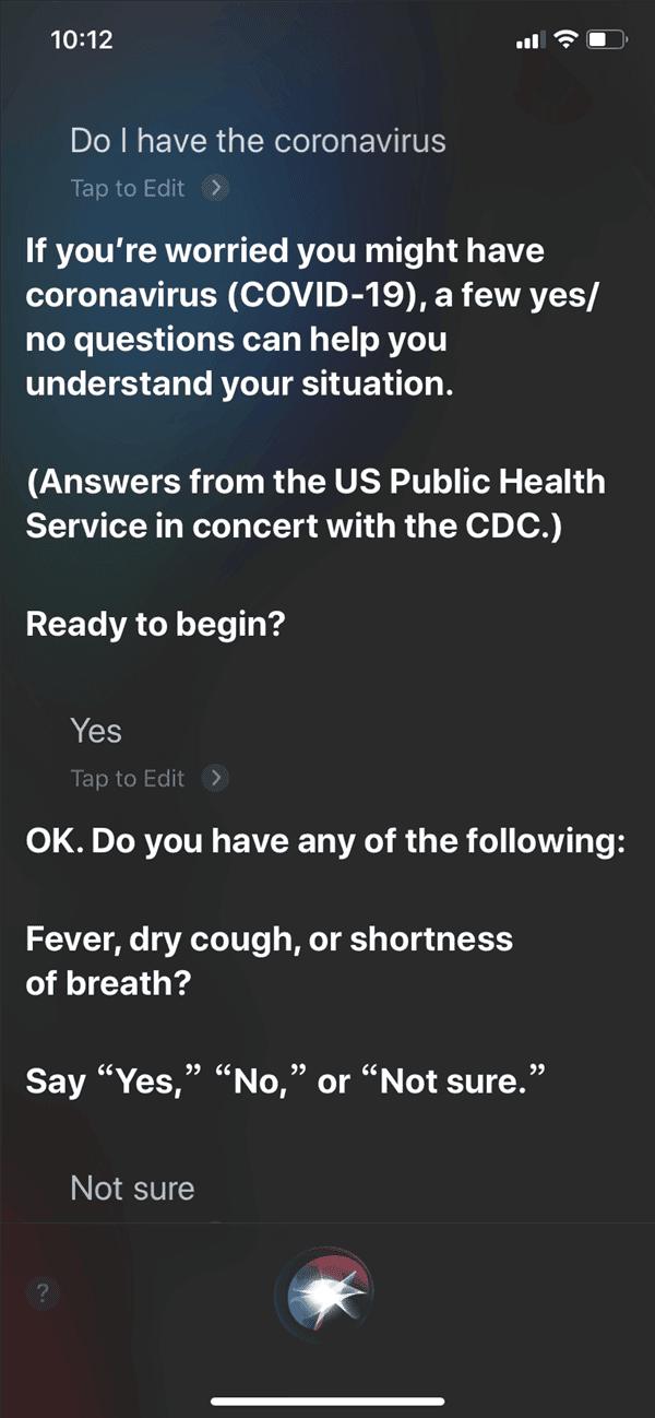 Siri coroanvirus