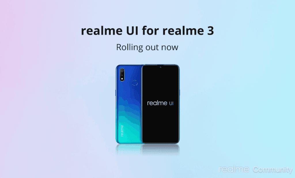 Realme 3, Realme 3i Realme UI