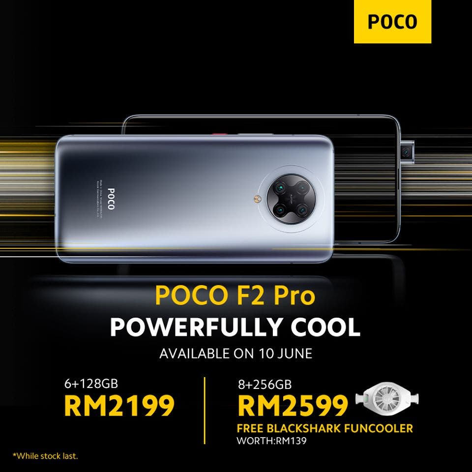 POCO F2 Pro Announced In Malaysia With Free BlackShark Funcooler