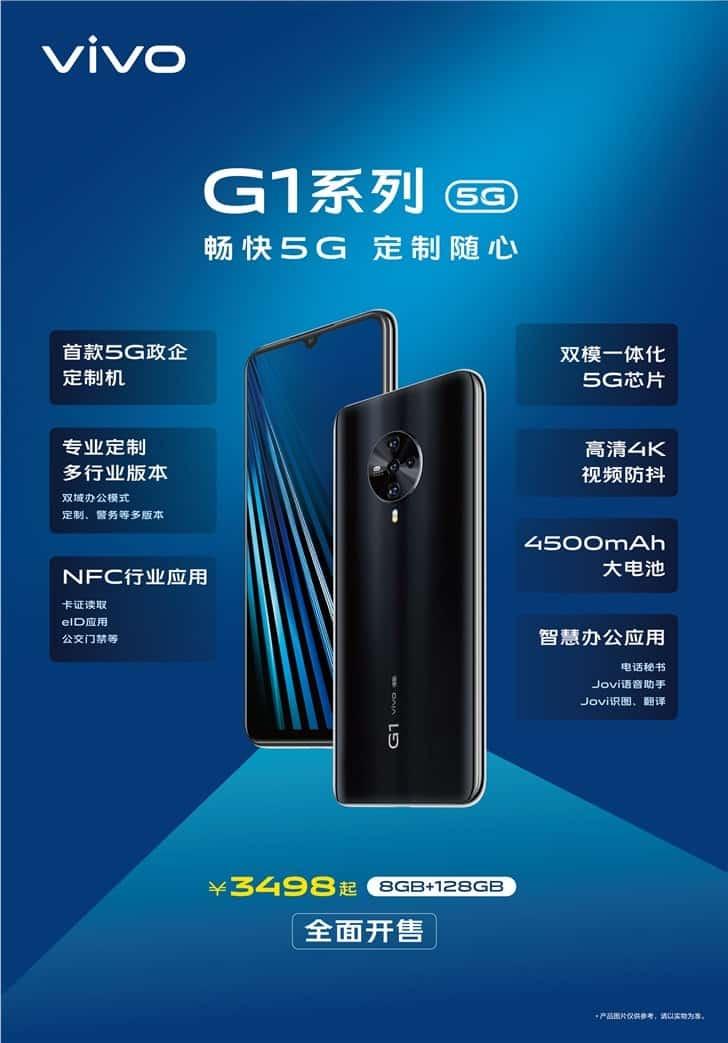 DIGBUSEL - Vivo Resmi Meluncurkan Smartphone Pertama Seri G Baru Yang Disebut Vivo G1 5G