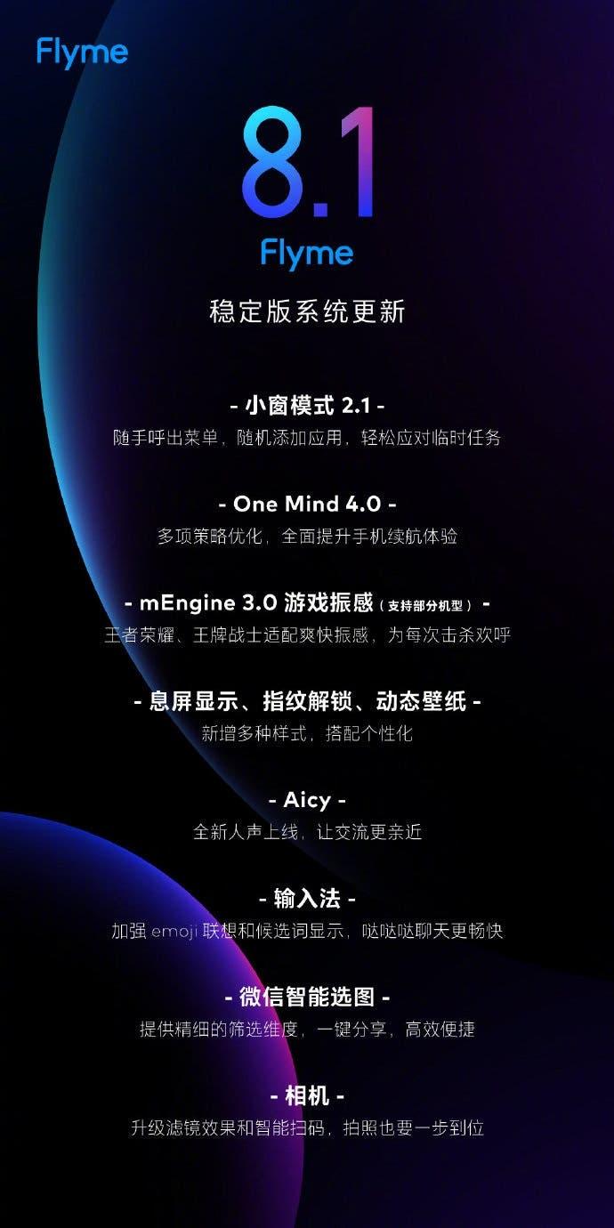 Meizu Flyme 8.1