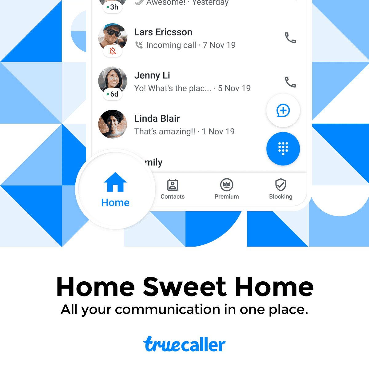treucaller homescreen